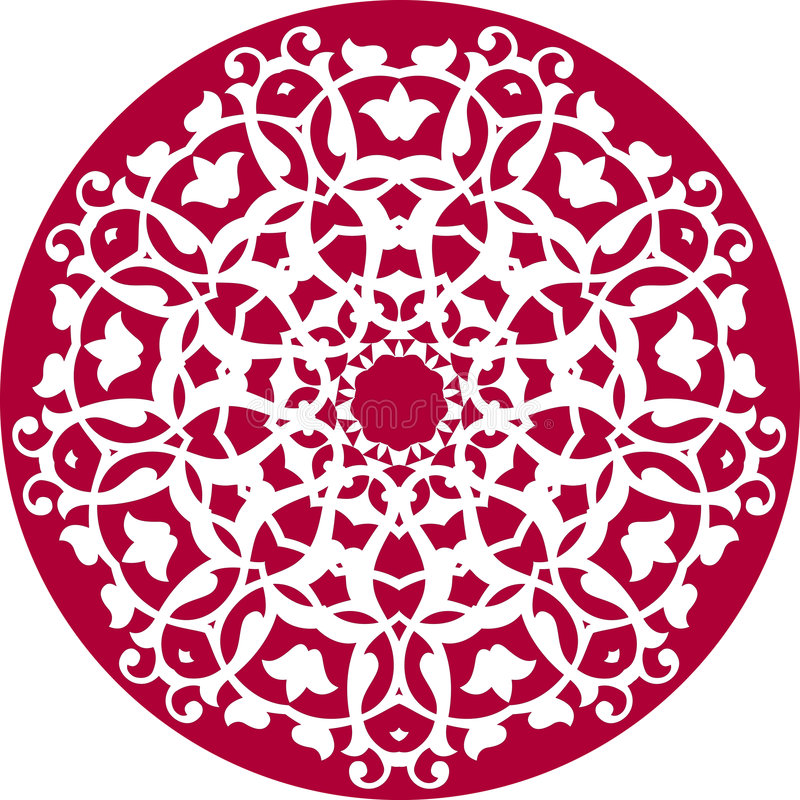 kalejdoskopowy kwiecisty wzór ilustracji