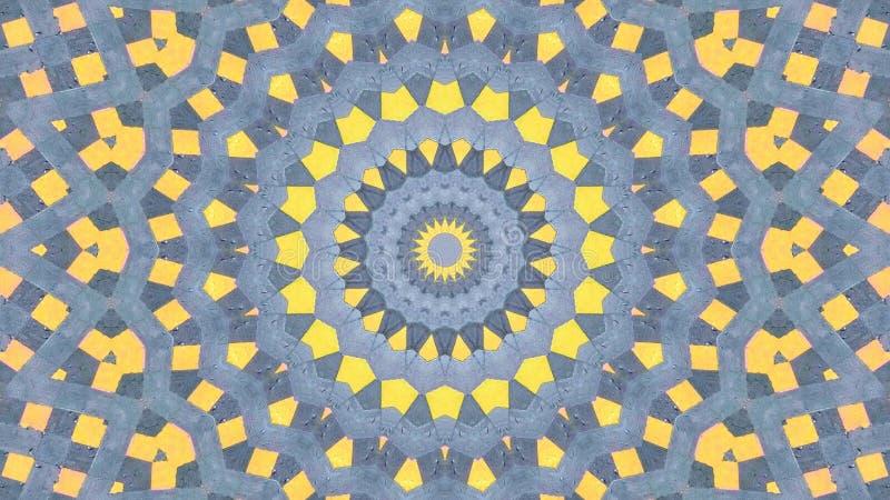 Kalejdoskopowy skutek szarość kolor żółty ilustracji