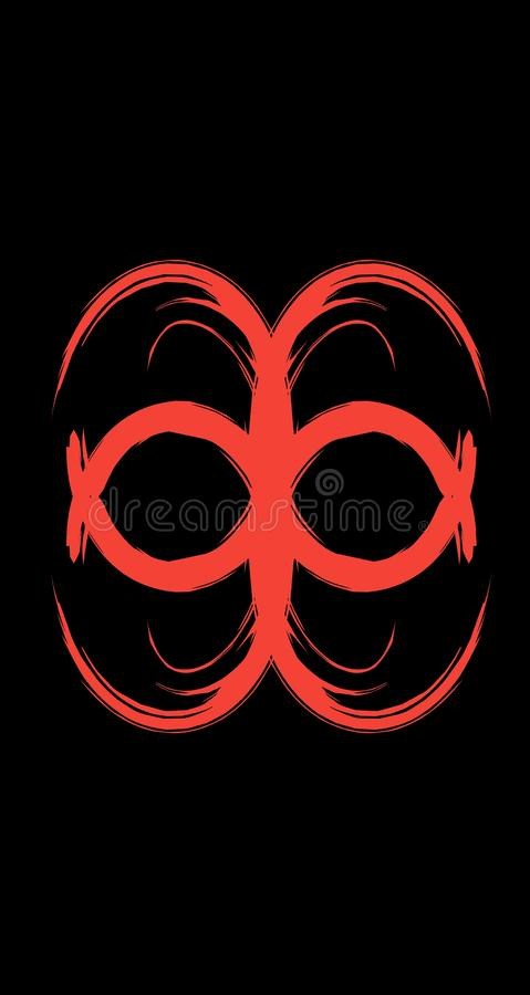 kalejdoskopu czerwonego abstrakcjonistycznego sposobu projekta chłodno rysunek ilustracja wektor