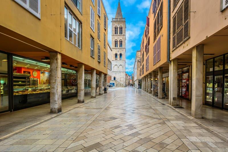 Kalelarga ulica w Zadar, Chorwacja zdjęcie royalty free