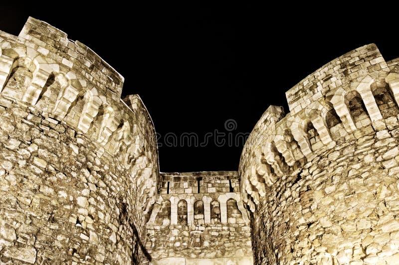 Kalemegdan堡垒塔 库存图片