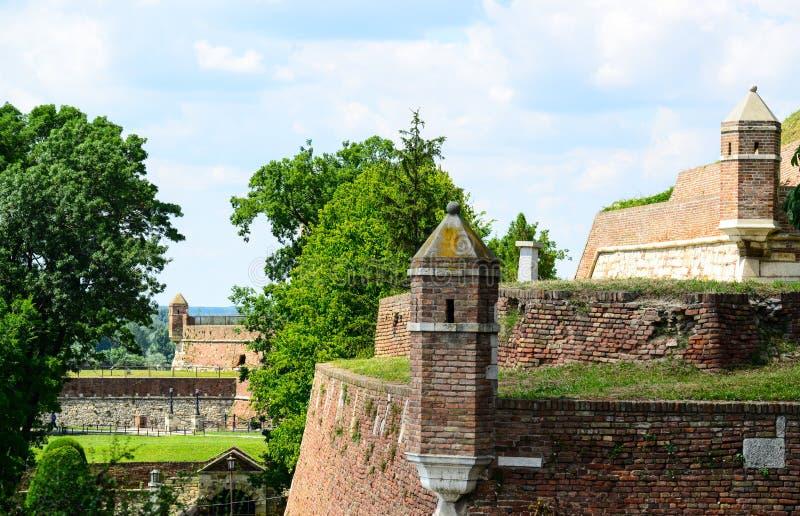 Kalemegdan堡垒建筑学细节在贝尔格莱德塞尔维亚 库存照片