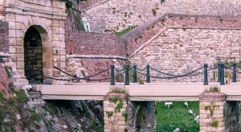 kalemegdan的堡垒 库存照片