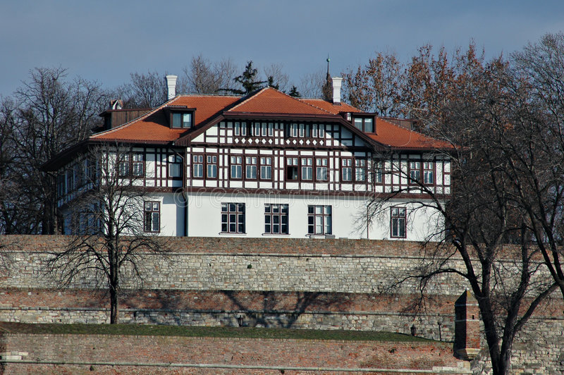 kalemegdan贝尔格莱德的堡垒 免版税库存照片