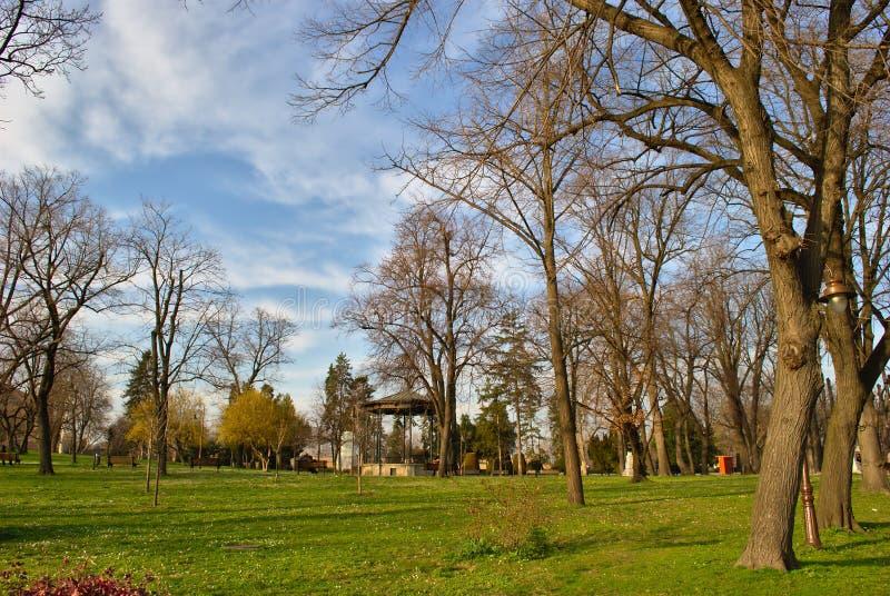Kalemegdan, Belgrado, Serbia - una escena en primavera temprana fotografía de archivo libre de regalías