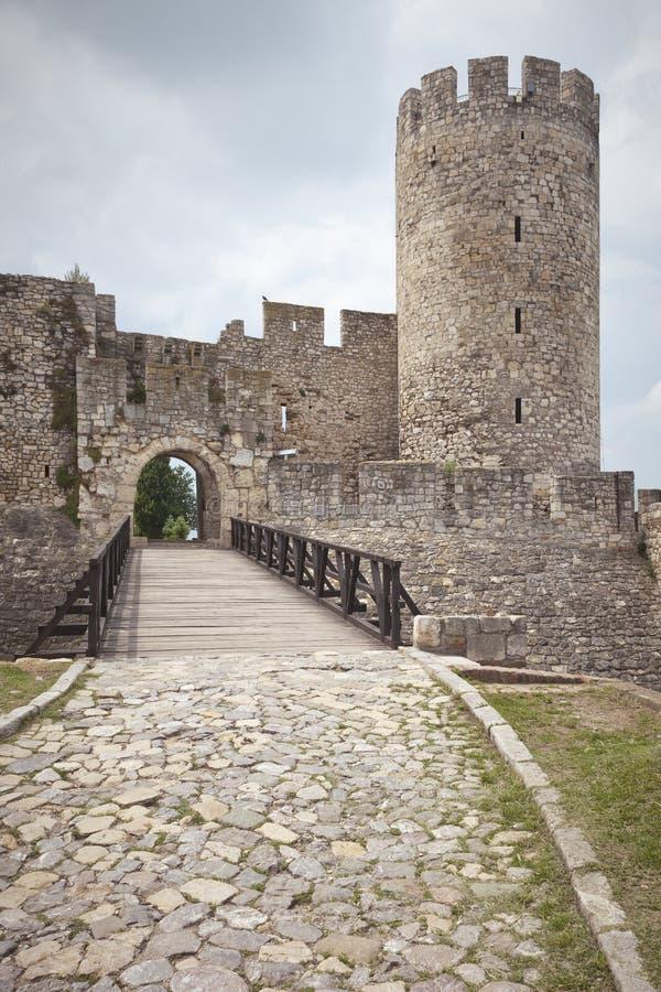 Kalemegdan fästning - despot port, Belgrade, Serbien fotografering för bildbyråer