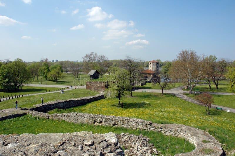 Kalemegdan, fortaleza en Belgrado, Serbia foto de archivo