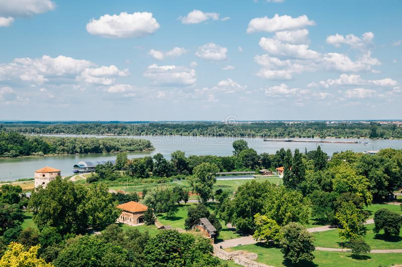 Kalemegdan Fortress park and Sava river in Belgrade, Serbia. Europe stock photo