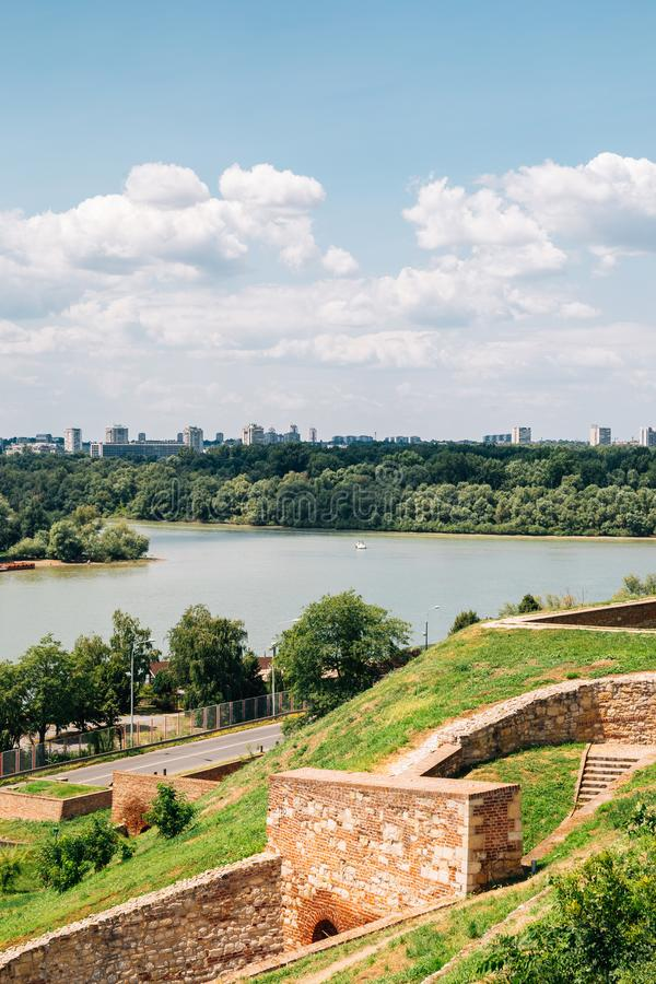 Kalemegdan Fortress park and Sava river in Belgrade, Serbia. Europe royalty free stock photos