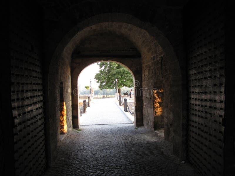 Kalemegdanpoort in Belgrado op de zomer stock afbeelding