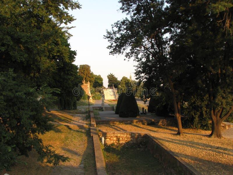 Kalemegdanvesting in Belgrado op de zomer stock foto's