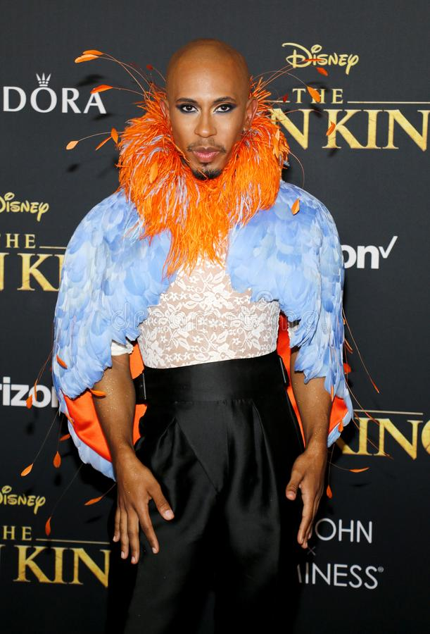 Kalen Allen. At the World premiere of `The Lion King` held at the Dolby Theatre in Hollywood, USA on July 9, 2019 stock photos