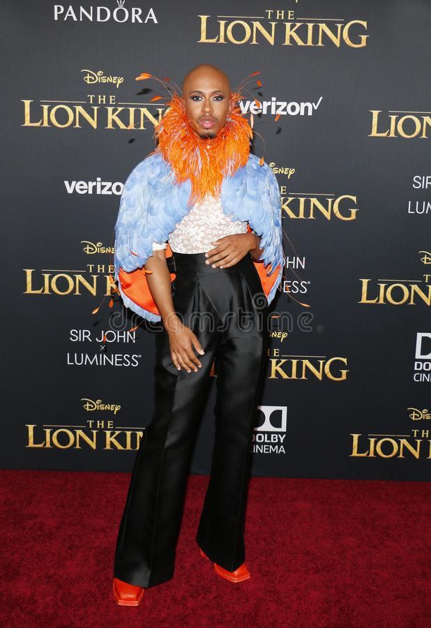 Kalen Allen. At the World premiere of `The Lion King` held at the Dolby Theatre in Hollywood, USA on July 9, 2019 royalty free stock photography