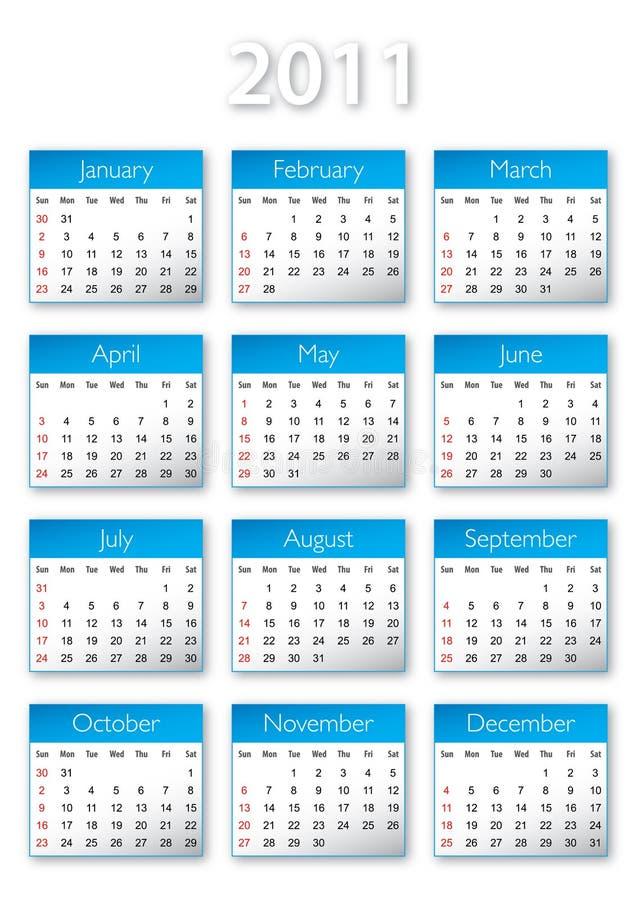 Kalendar 2011 stock photo