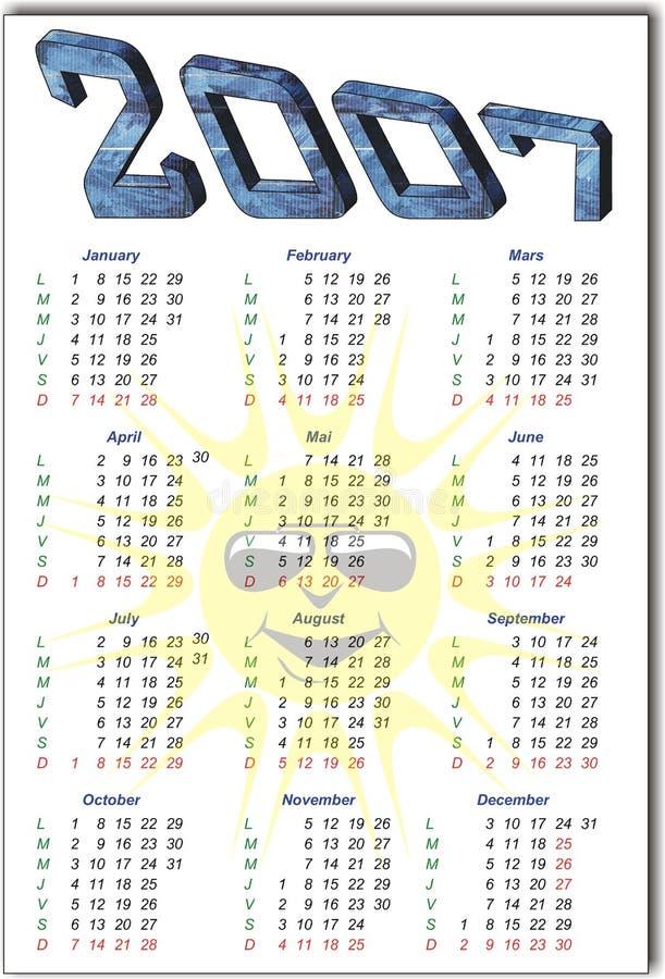 kalendarz royalty ilustracja
