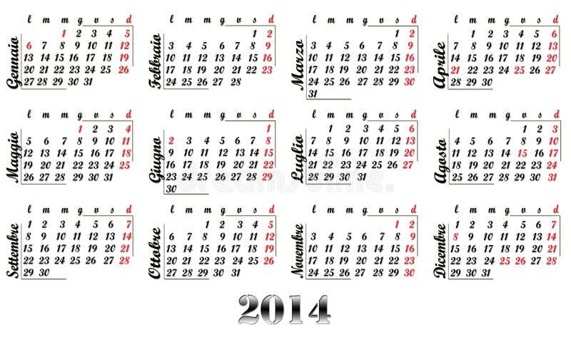 2014 kalendarz obrazy royalty free