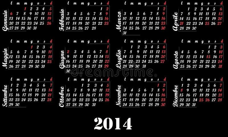 2014 kalendarz zdjęcia stock