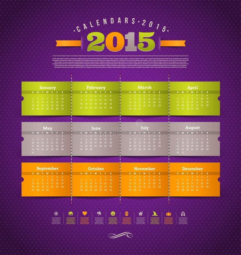 Kalendarz 2015 royalty ilustracja
