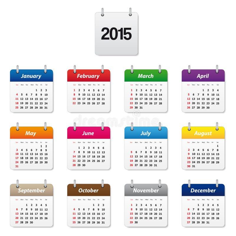 Kalendarz 2015 ilustracji