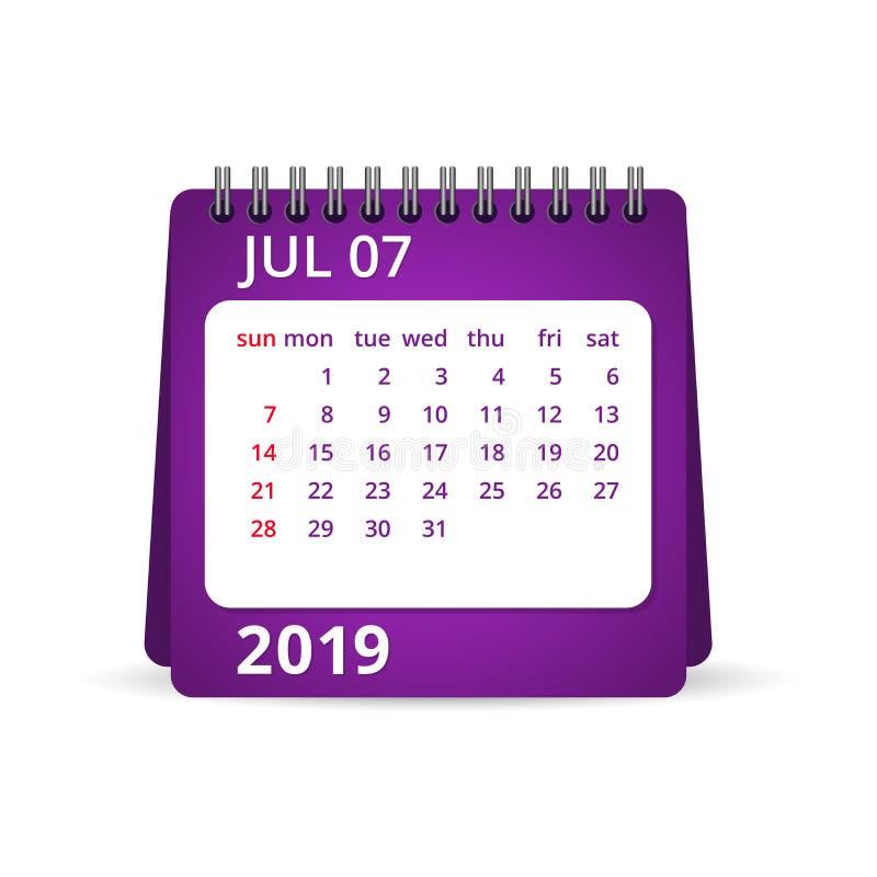 2019 kalendarz bigos również zwrócić corel ilustracji wektora ilustracja wektor