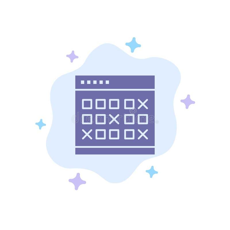 Kalendarz, data, wydarzenie, wydarzenia, miesiąc, rozkład, rozkład zajęć Błękitna ikona na abstrakt chmury tle royalty ilustracja
