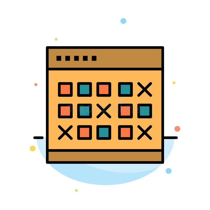Kalendarz, data, wydarzenie, wydarzenia, miesiąc, rozkład, rozkład zajęć koloru ikony Abstrakcjonistyczny Płaski szablon ilustracji
