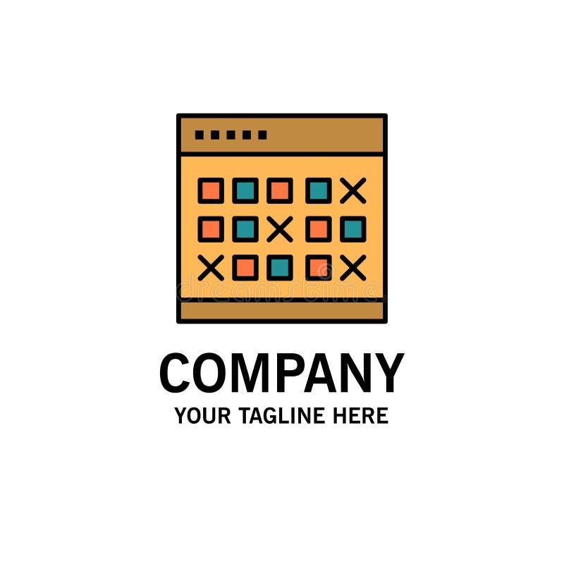 Kalendarz, data, wydarzenie, wydarzenia, miesiąc, rozkład, rozkład zajęć logo Biznesowy szablon p?aski kolor ilustracji