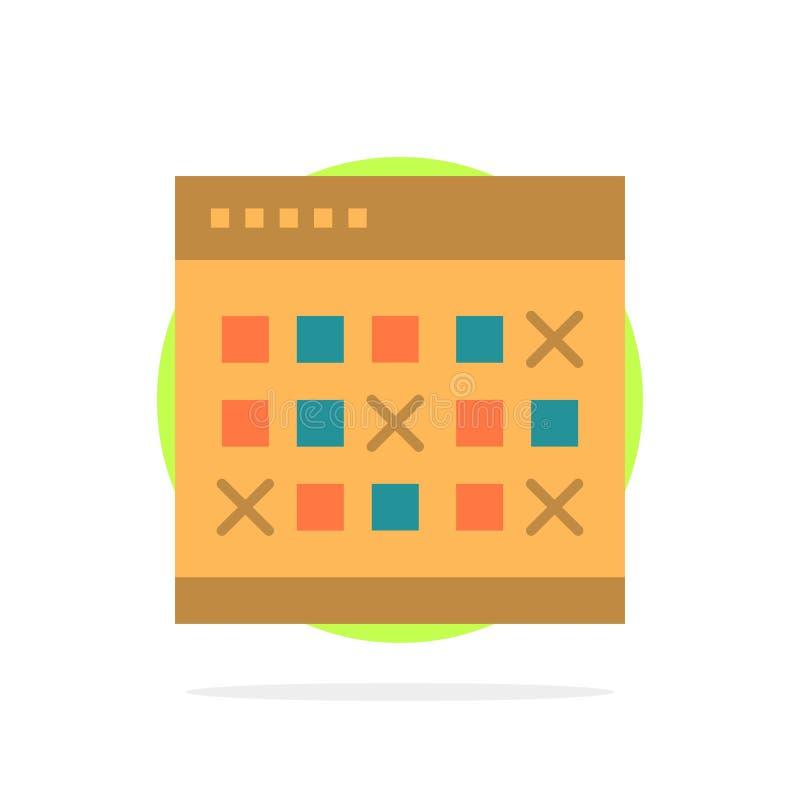 Kalendarz, data, wydarzenie, wydarzenia, miesiąc, rozkład, rozkład zajęć okręgu Abstrakcjonistycznego tła koloru Płaska ikona ilustracja wektor