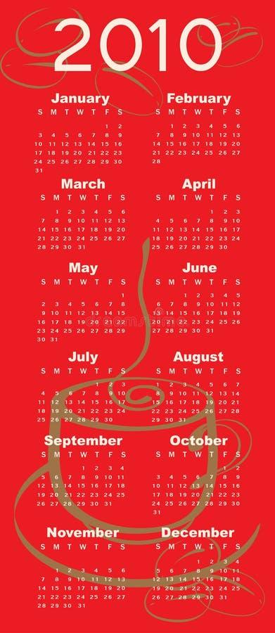 Kalendarz dla 2010 ilustracji
