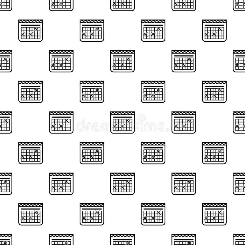 Kalendarz dla rozkład ikony, prosty styl royalty ilustracja