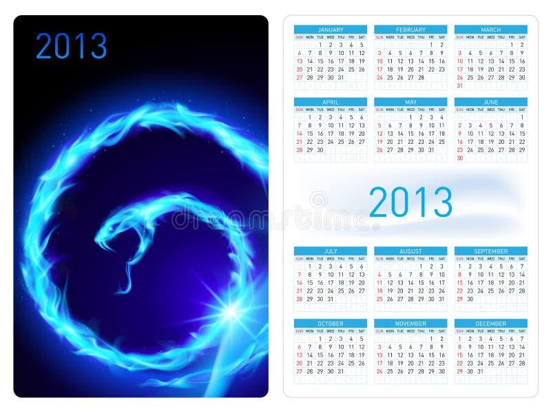 Kalendarz dwadzieścia trzynaście. Pożarniczy wąż ilustracji