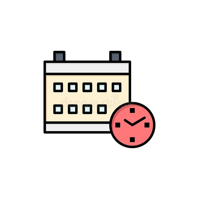 Kalendarz, dzień, data, edukacja koloru Płaska ikona Wektorowy ikona sztandaru szablon ilustracji
