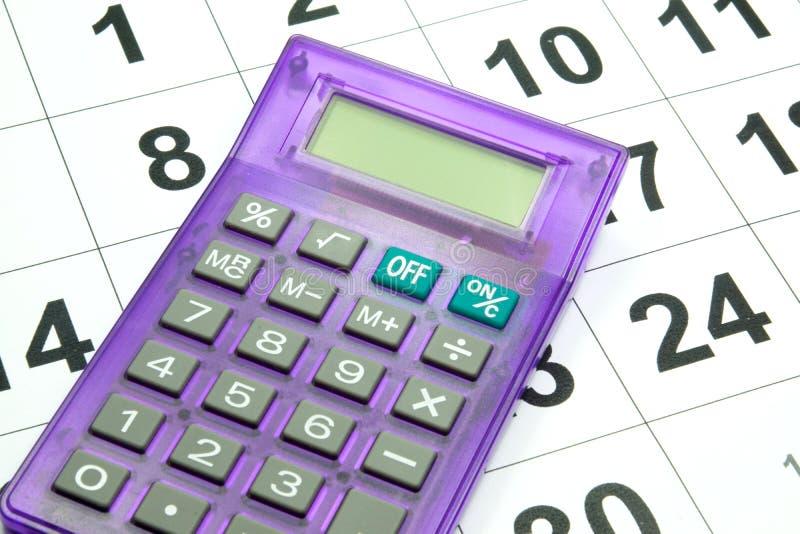 Kalendarz i kalkulator zdjęcie royalty free