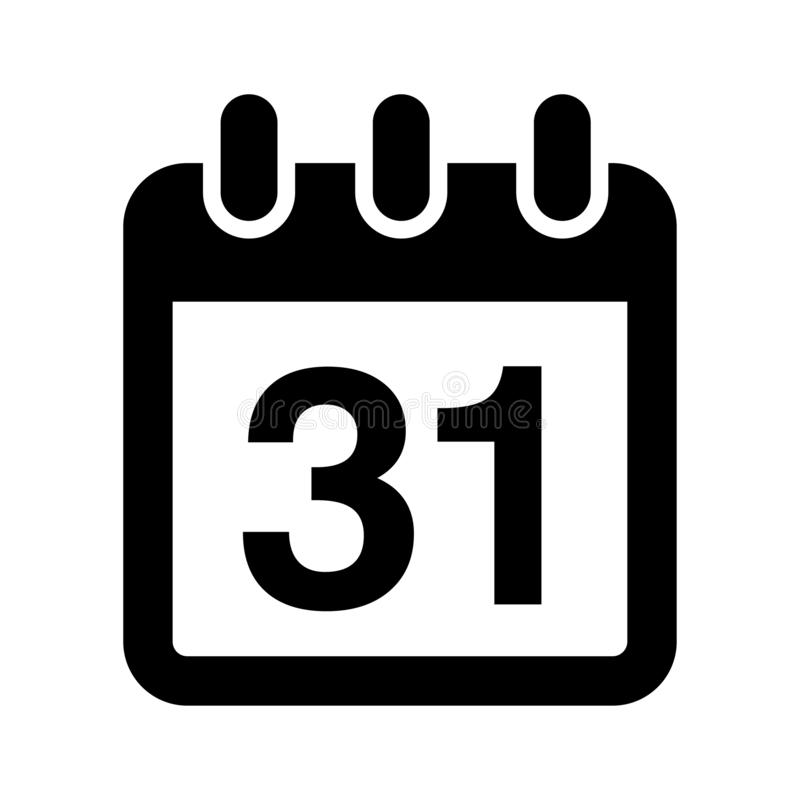 Kalendarz Odizolowywaj?ca P?askiej sieci Mobilna ikona, wektor, znak, symbol, guzik, element, sylwetka/ royalty ilustracja