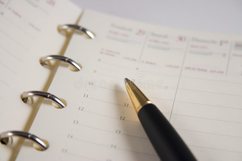 kalendarz terminarzowy zdjęcia royalty free