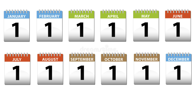 kalendarze royalty ilustracja