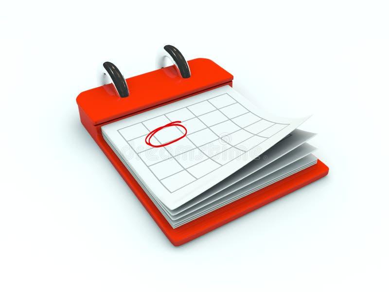 kalendarzowa ikona ilustracji