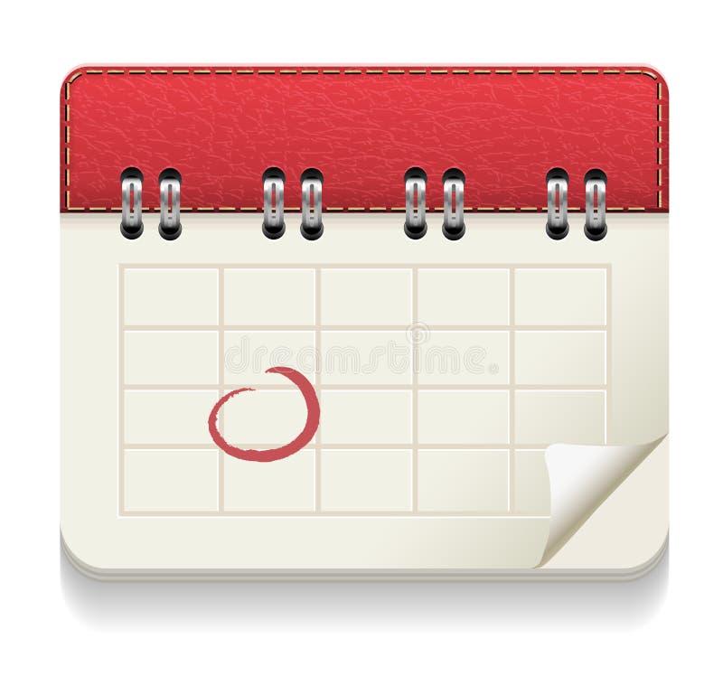 Kalendarzowa ikona ilustracja wektor
