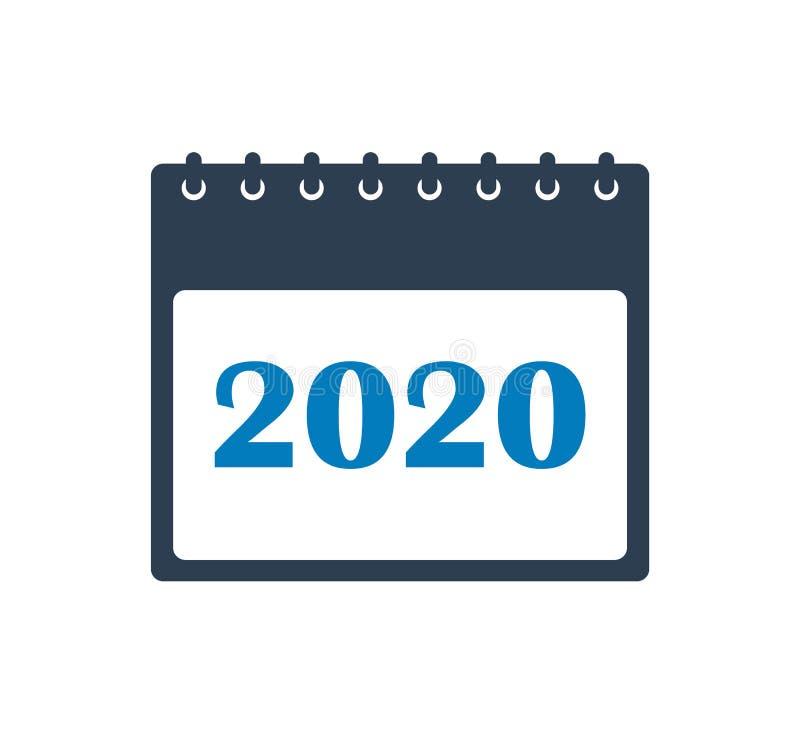 2020 Kalendarzowa ikona ilustracji