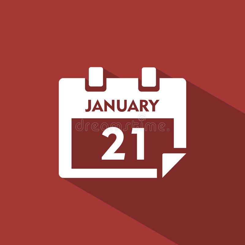 Kalendarzowa ikona z cieniem royalty ilustracja