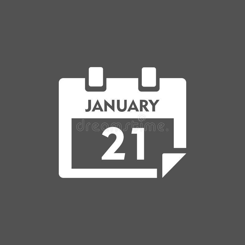 Kalendarzowa ikona z cieniem ilustracja wektor