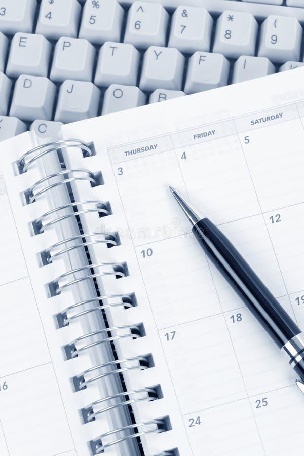 kalendarzowa komputerowa klawiatura zdjęcie stock