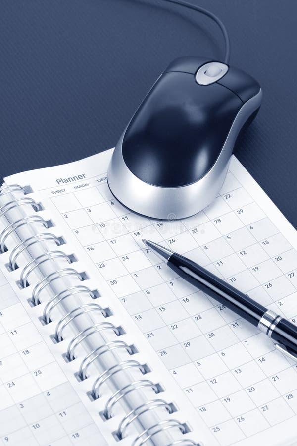 kalendarzowa komputerowa mysz fotografia royalty free
