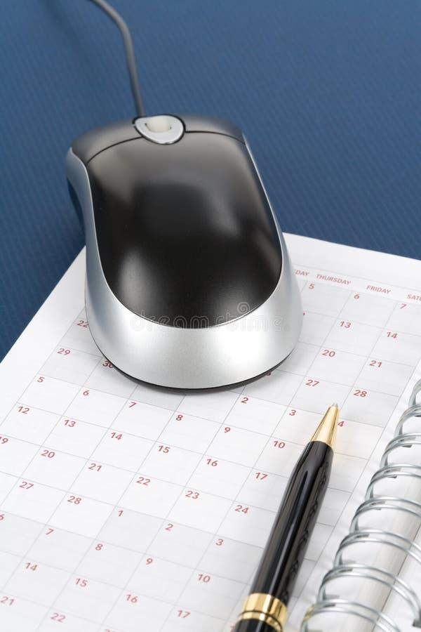 kalendarzowa komputerowa mysz obraz royalty free