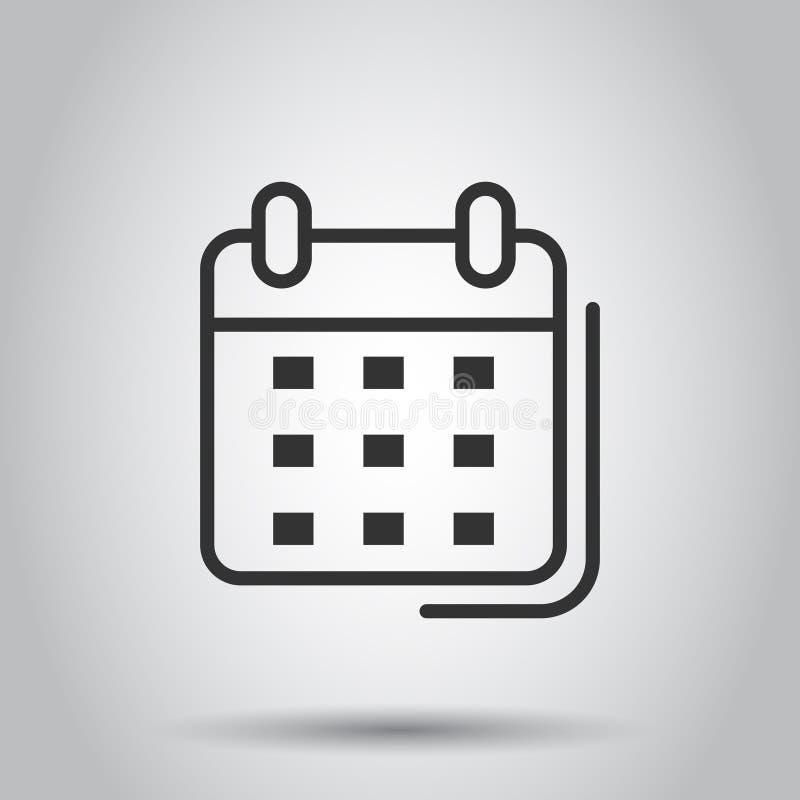 Kalendarzowa organizator ikona w przejrzystym stylu Nominacyjnego wydarzenia wektorowa ilustracja na odosobnionym tle Miesi?ca os ilustracja wektor