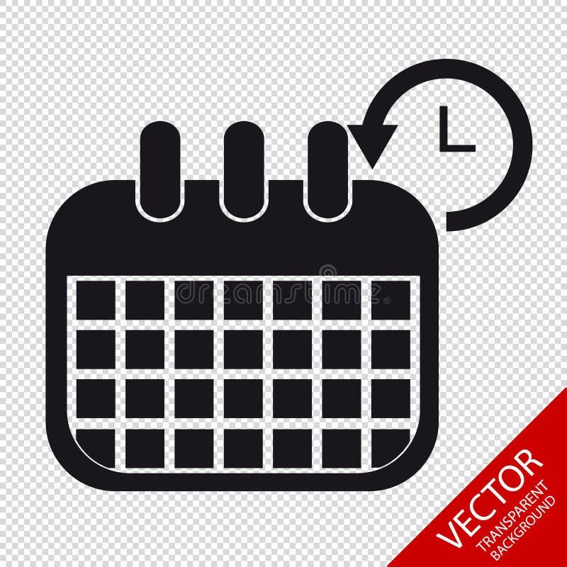 Kalendarzowa rozkład ikona Odizolowywająca Na Przejrzystym tle - Wektorowa ilustracja - ilustracji