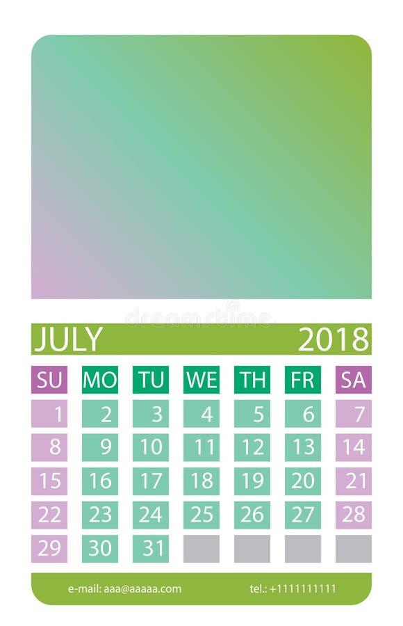 Kalendarzowa siatka bigos ilustracja wektor