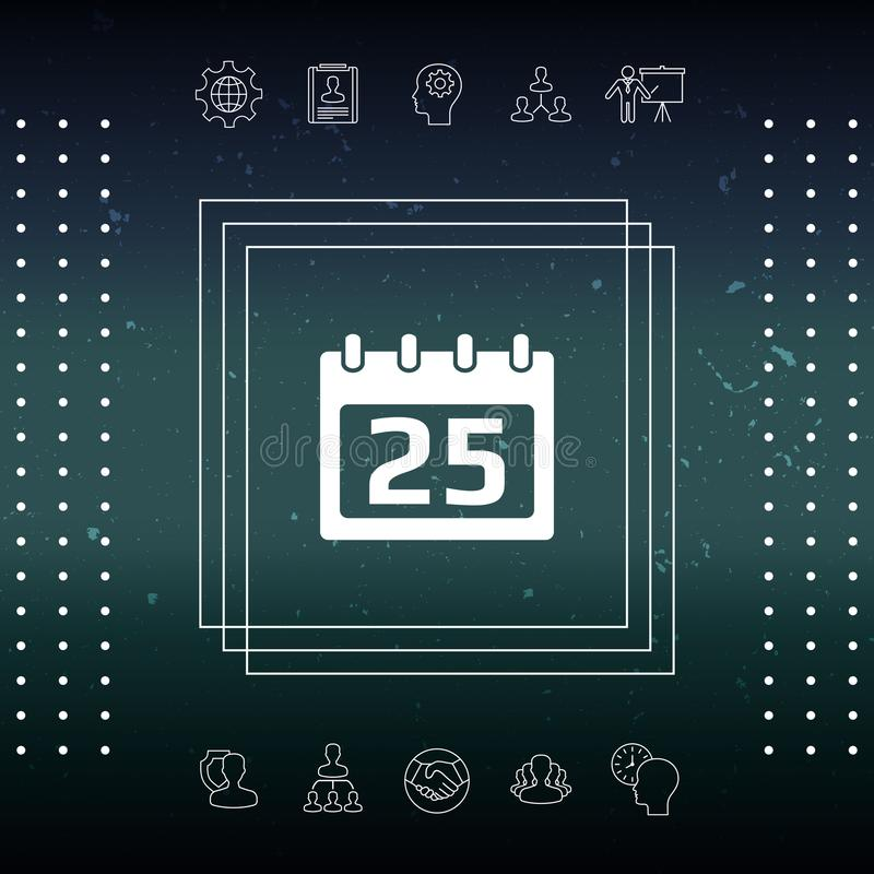 Kalendarzowa symbol ikona ilustracji