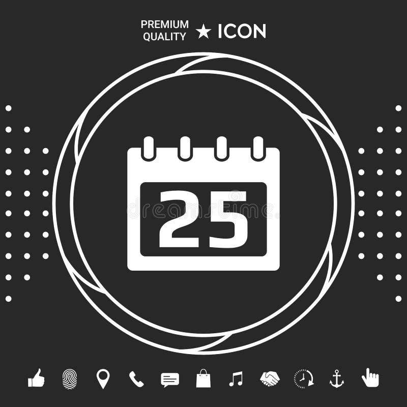 Kalendarzowa symbol ikona royalty ilustracja