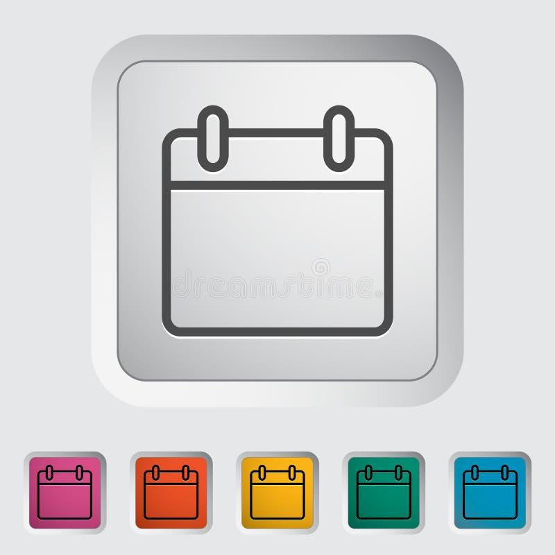 Kalendarzowa uderzenie ikona royalty ilustracja